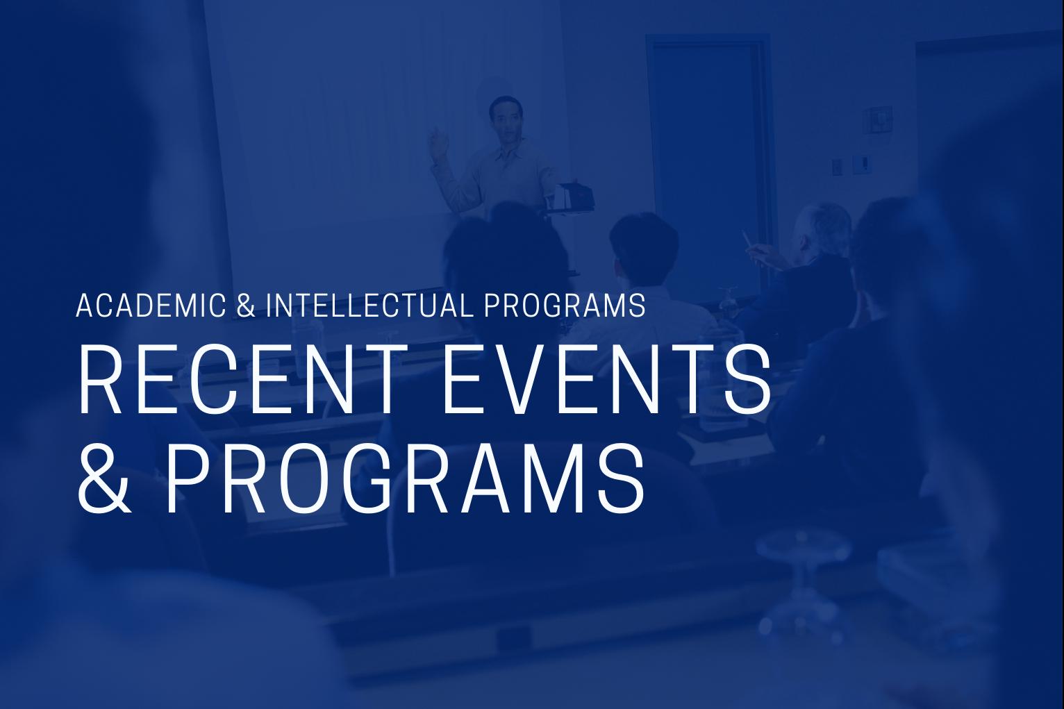 Slideshow Cover for Academic Programs